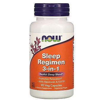 Ahora alimentos, régimen de sueño 3 en 1, 90 cápsulas de verduras