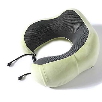 U Shaped Memory Foam Neck Pillows Soft Slow Rebound Space Travel Solid Cervical
