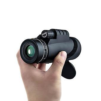 IPRee 40x60 monokulær optisk HD 2000T linseteleskop BAK4 dag nattsyn 1500m / 9500m utendørs camp