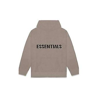 Fear Of God Essentials Knit Hoodie Taupe - Clothing