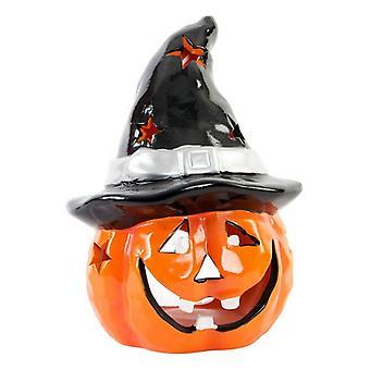 Halloween-koristeet DKD Home Sisustus Keraaminen kurpitsa (17 x 16 x 22 cm)