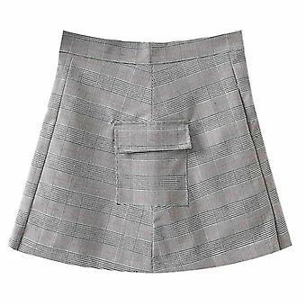 Плед Плиссированная короткая юбка