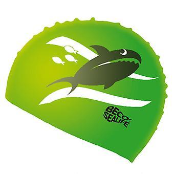 BECO Silicone Junior Sealife Swimming Cap - Green