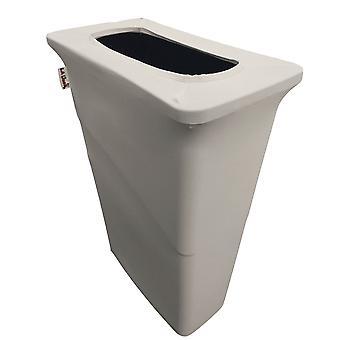 La Linen Stretch Spandex Trash Can Cover For Slim Jim 23-Gallon,Light Grey