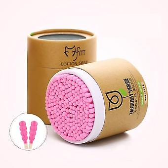 200pcs Bamboo Cotton, Soft Cotton Buds Cleaning Of Ears Microbrush Tampons