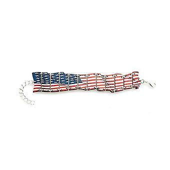 Waving American Flag Bracelet #7547