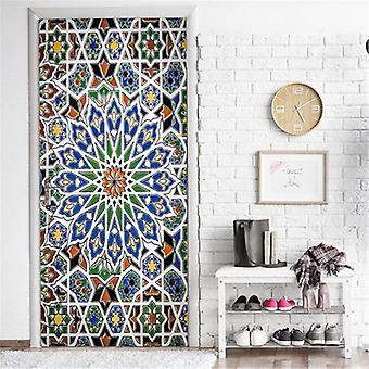 Mandala Art Door Mural Self-adhesive Waterproof Vinyl Poster