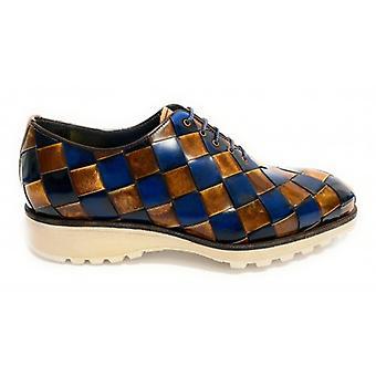 Men's Shoes Harris Francesine Skin Shade Blue and Linen U17ha144