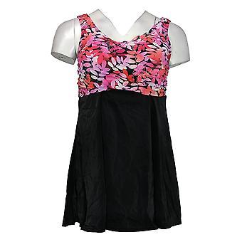 Fit 4 U Swimsuit Wrap Swim Dress Swim Skirt Tankini Top Pink A376261