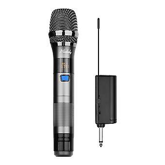 Uhf draadloos microfoonsysteem 1 tx en 1 rx donkergrijs