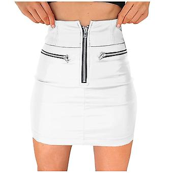 Winter Women Skirt, Pu Leather Sexy Mini Skirt
