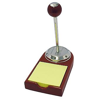 GTP Unisex Gear Knob Pen & Memo Pad In Rosewood Finish and Chrome Plated Alloy Gift Set IMP435RW