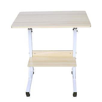 1pc Laptop Table Foldable Movable Bedside Desk Multifunctional Laptop Stand Lifting Side Table For Home Room