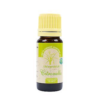 Citronella eteerinen öljy (Cymbopogon nardus) 100% puhdasta ilman 10 ml: n lisäystä