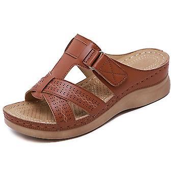 Kvinnor Sandaler Platt Skor Spänne Rem Slip På bekväma kvinnor Sandaler Plus Storlek Solid Casual Skor Kvinnor Platta Sandaler
