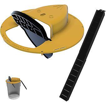 Flip N Tapa del cubo deslizante Ratón Trampa de rata 11116