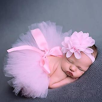 Newborn Photography Props Baby Tutu Skirt Photo Props And Flower Headband Hat