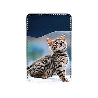 Bengal Kattunge Självhäftande Korthållare För Mobiltelefon
