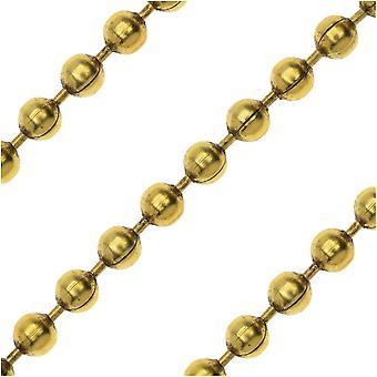Antiqued Gold Plated Ball Chain Chain, 2mm, par Nunn Design, par The Foot