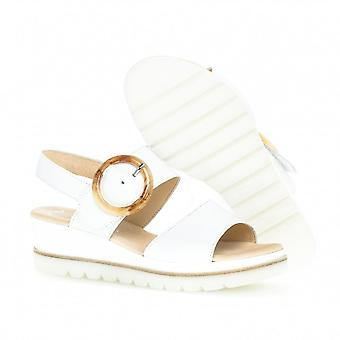Gabor Yeo Comfortable Leather Fashion Sandals In White