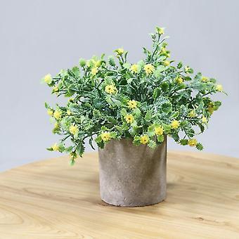 Keinotekoiset kasvit tähtitaivas muovi kukka fake vihreä kasvi