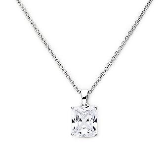 Eye Candy, sterling 925 silver women's necklace rhodium with pendant with white zirconia, 45 cm, article no. ECJ-NL0034