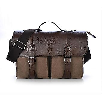 Mężczyźni Casual Crossbody Bag Hand Bag Brown 37x12x28cm