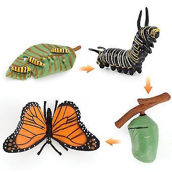 2Pcs פרפר מיניאטורי סימולציה חרקים מחזור מדע וחינוך מודל קוגניטיבי צעצועי למידה של ילדים 4pcs az8887