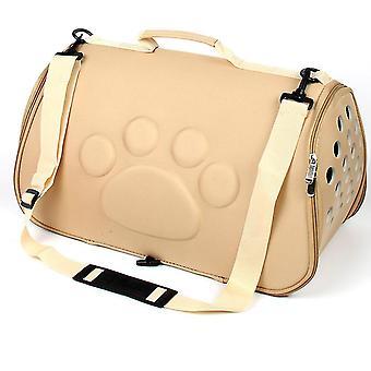 L 52 * 32 * 32cm khaki kannettava lemmikkieläinten matkalaukku, kissa ja koira hengittävä käsilaukku az22133