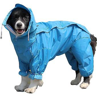 26 (Zadní délka. 69cm) modrá pláštěna pro psy s odnímatelnou mikinou se stahovací šňůrkou 10 velikostí dt5743