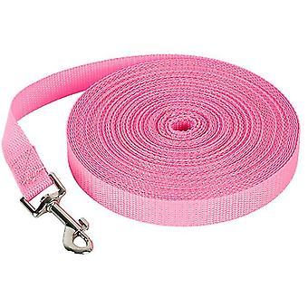 6M * 2cm rosa 50m correa de perro mascota, correa de seguimiento al aire libre para perros grandes az356