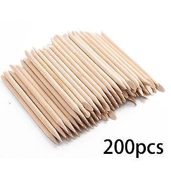 200Pcs/Bag Nail Art Wooden Dead Skin Remove Nail File Art Tools For Manicure|Cuticle Pushers