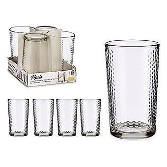 Uppsättning glasögon Vivalto pekar transparent kristall (4 stycken) (225 ml)