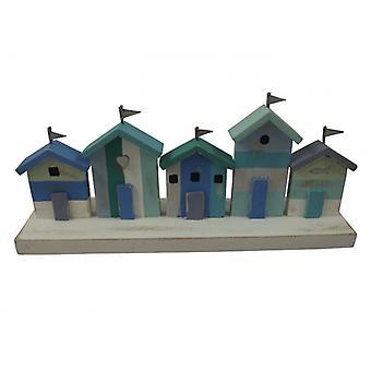 Shoeless Joe Marine Coloured Beach Huts Nautical Decoration