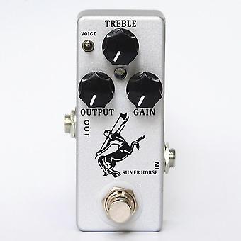 Horse Guitar Overdrive Effect -pedaali, True Bypass, Metal Shell -kitaran osat &