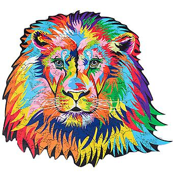 Children's Puzzles Animal Shapes Wood 3d Jigsaw Puzzle Lion-shaped Children Puzzles Gifts