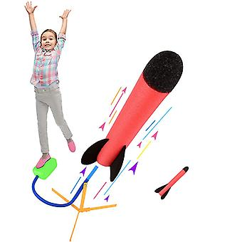 Toy Rocket Launcher With 2 Foam Rocket ,fun Outdoor Toy For Kids