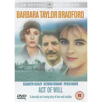 Act of Will DVD (2003) Victoria Tennant Sharp (DIR) cert 15 Região 2