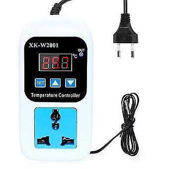LED Thermometer Temperaturregler Digitaler Thermostatschalter mit Sonde für Reptilien Brauen