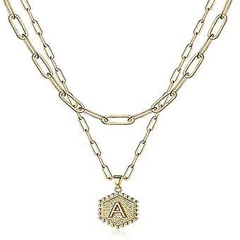 Damer udsøgt lagdelt indledende halskæde, sekskantet vedhæng halskæde (Style1)