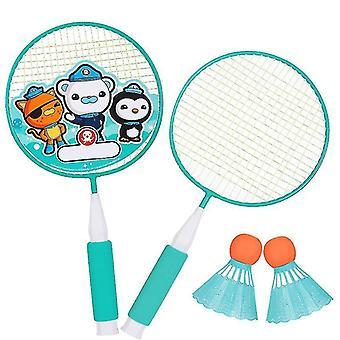 Badminton Schläger Spiel Kleines Badminton Spielen Training Schläger mit Ball (Grün)