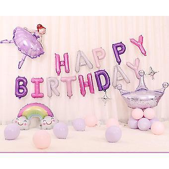 Geburtstagsfeier Luftballons, Alles Gute zum Geburtstag Luftballons Cartoon Schwein Huhn Regenbogen