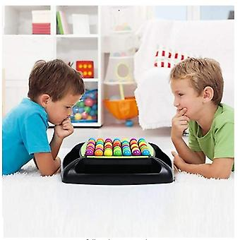 Rainbow Bead Game For Kids Puzzle Magic Chess Board Game Rainbow Ball Matching Game Adult Family Toy Set
