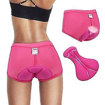 Велосипед велосипед шорты трусы женщины велоспорт нижнее белье брюки гель 3d мягкая розеред l