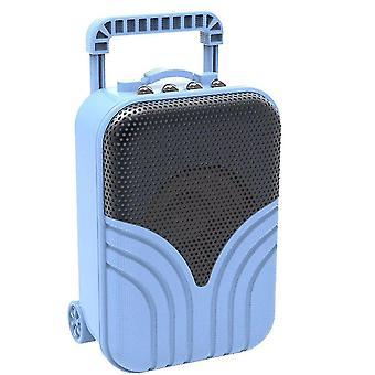 Mini trolley case card portable audio(Blue)