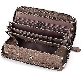 Japanese leather lady long zipper lychee pattern wallet(Color-5)