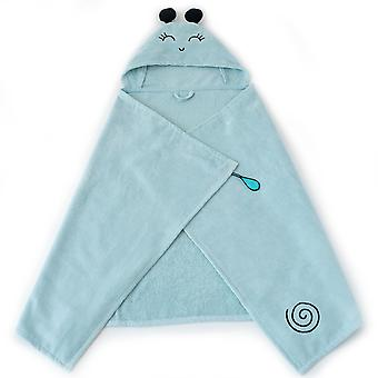 Milk&Moo Sangaloz Baby Bath Towel, 100% Cotton Baby Hooded Towel, Ultra Soft and Absorbent Baby Towel for Newborns, Infants and Toddlers, One Size, Turquoise Color