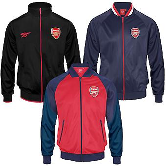 Arsenal FC Mens Jacket Track Top Retro OFFICIAL Football Gift