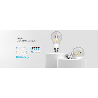 Yeelight - Älykäs LED-lamppu E27 - Yhteys Wifin kautta - 700 Lumen - 6W Älykäs valaistus - Käyttöikä 25.000 Tuntia