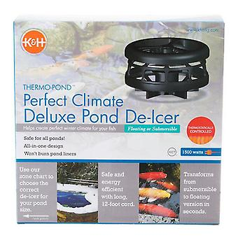 K&H Pet Products Thermo-Pond Perfect Climate Deluxe Pond De-Icer - 1500 Watts with 12' Cord